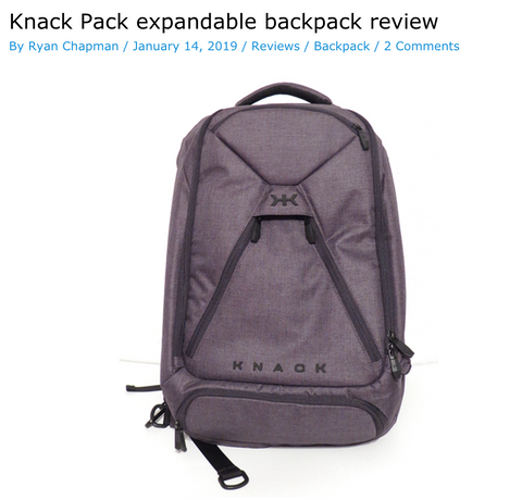 Review of Knack Pack Laptop Backpack from The Gadgeteer