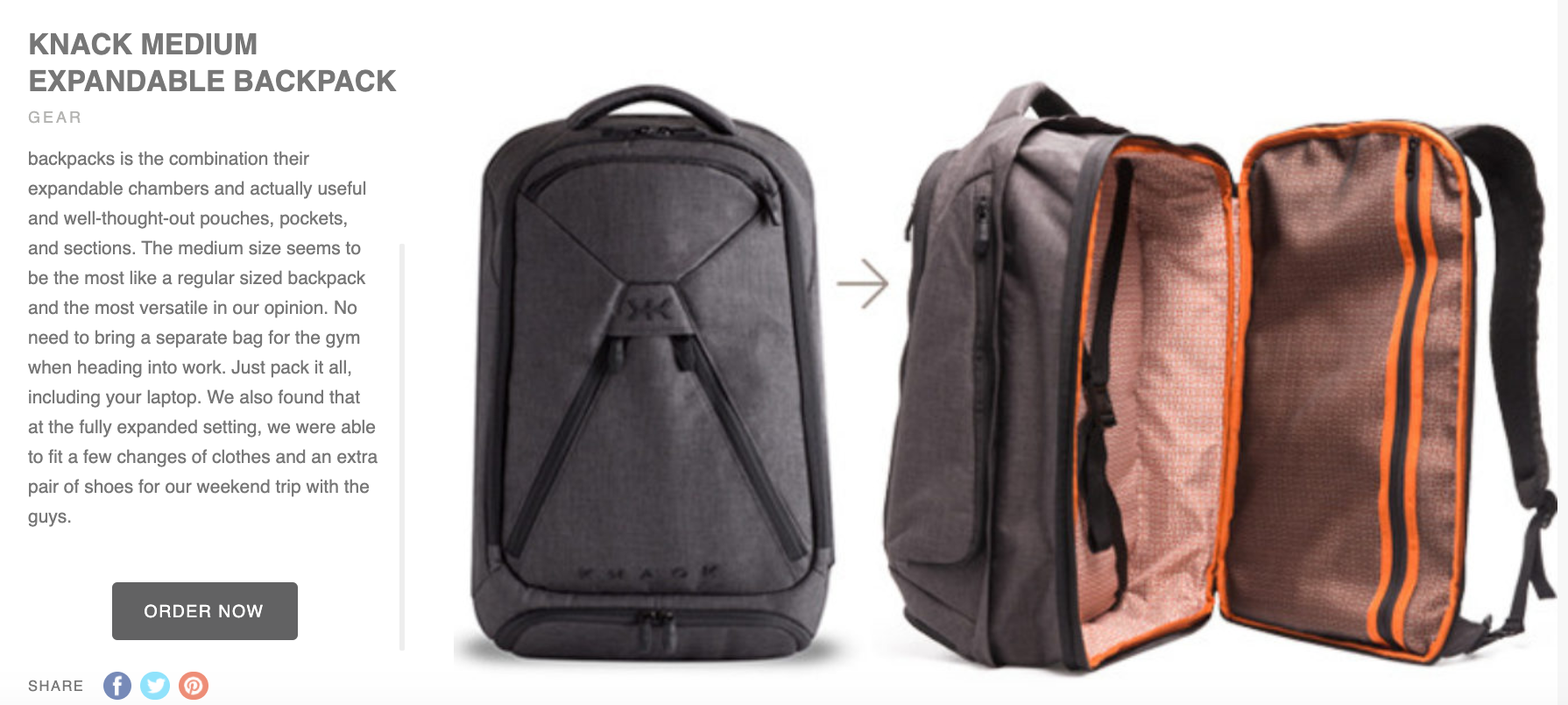 Review of Mens Professional Laptop Backpack - one bag life