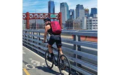 A backpack for bicycle commuters