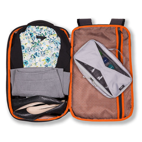 Business Travel Backpack with clothes