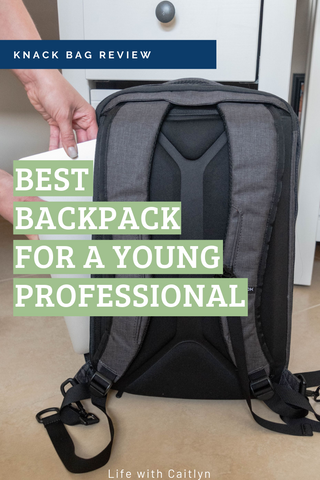 Backpack for young professionals going to their first job