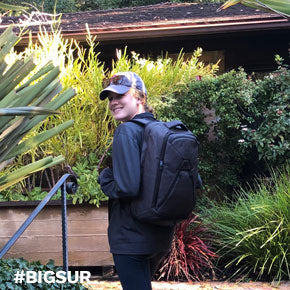 Knack Pack used as only bag for trip to Big Sur, California