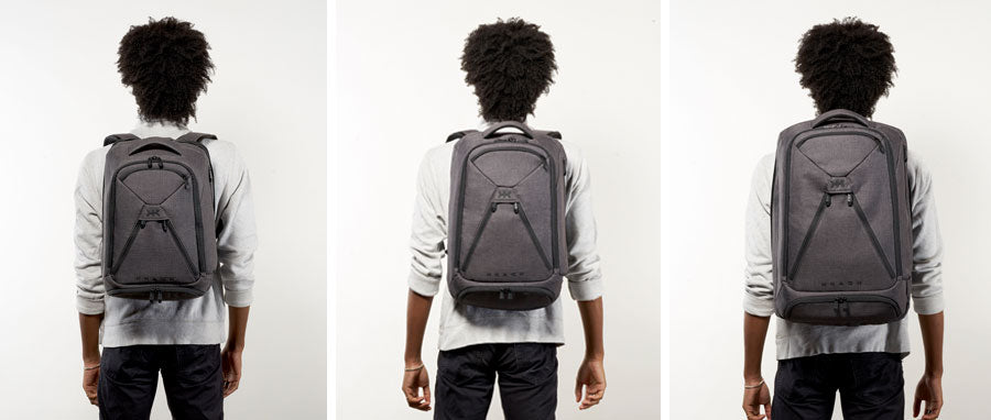 Knack Backpacks on 5 foot 10 inch model