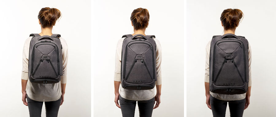 Knack Backpacks on 5 foot 3 inch model