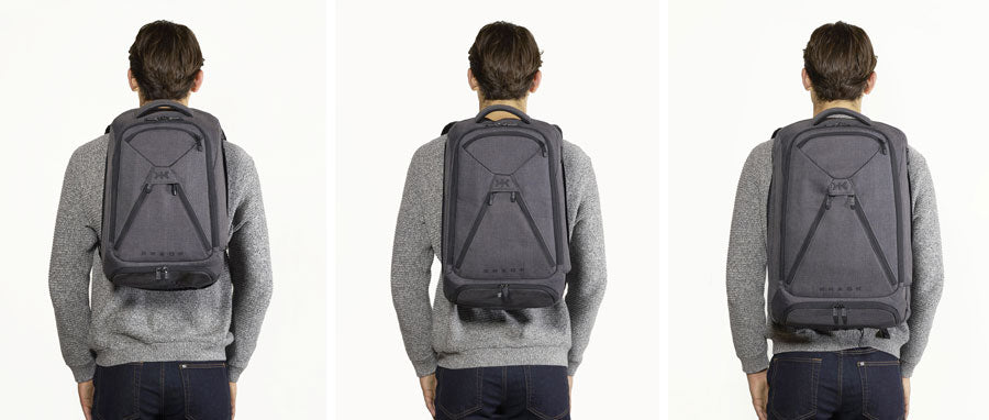 Knack Backpacks on 6 foot 3 inch model