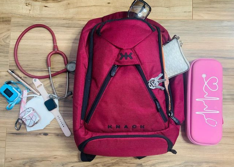 Backpack for healthcare professionals