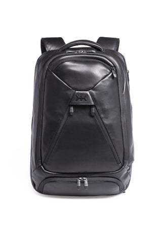 High end professional leather laptop backpack