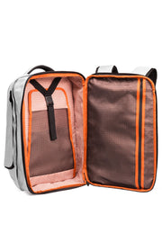 Separate, patent-pending, expandable packing compartment holds 2 to 3 changes of clothes.