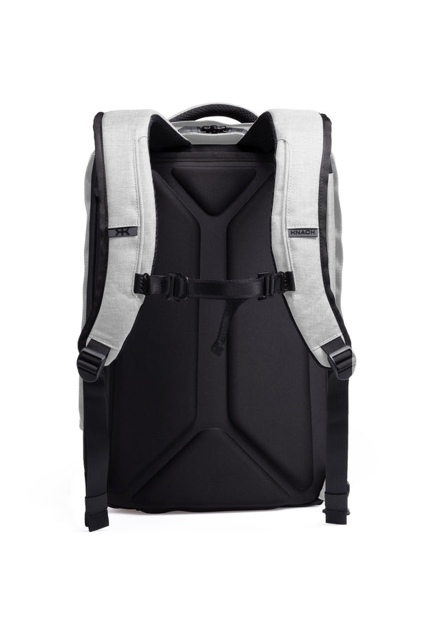 Ergonomically-designed comfort foam shoulder straps with easy-release clips and adjustable, removable sternum strap.