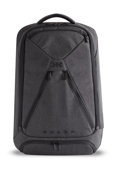 Knack large backpack in gray color. Simple design with organization pockets