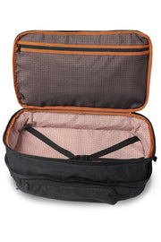 Separate, patent-pending, expandable packing compartment holds 3 to 4 changes of clothes