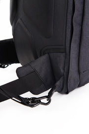 Adjustable, tuck-away hip straps to help carry heavy load