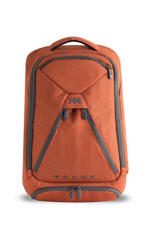 Knack Medium Expandable Backpack Simple design with organization pockets in orange