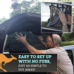 Windshield Sun shade - Car Sun Shade for Windshield - Premium Made for Australian Outback - Ultra Tough Sun Wind Protector for Car, SUV, Truck and Van - Bonus Blind Spot Mirrors - Great Barrier Universal Standard Size
