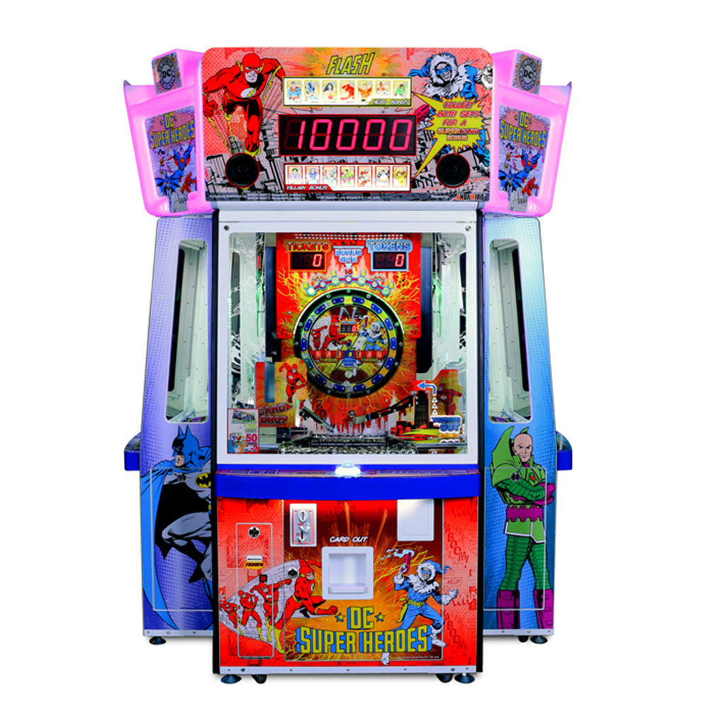 DC Super Heroes 4 Player Arcade Game Coin Operated With Tickets by Namco