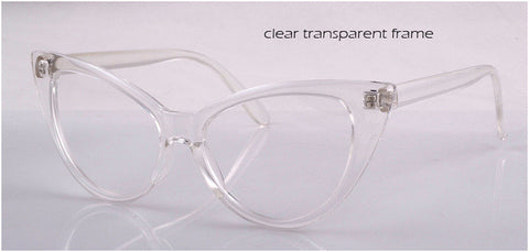 Transparent Cat Eye Clear  Glasses