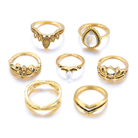 7pcs/Set Women Above Knuckle Ring Set