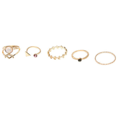 5pcs/Set Women Bohemian Vintage Ring