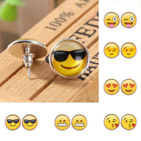 Cute Emoji Ear Stud Earrings