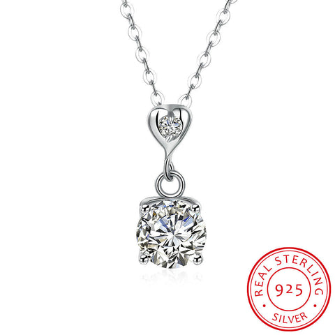 Silver Zircon Necklace S925
