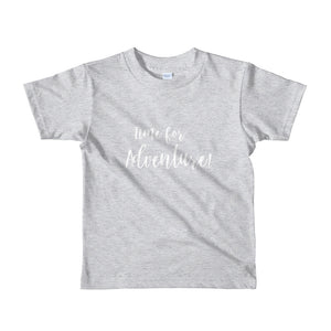 'Time for an Adventure' Short sleeve kids t-shirt