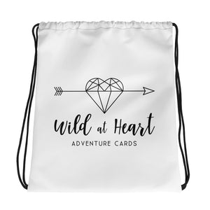 Wild at Heart Drawstring bag