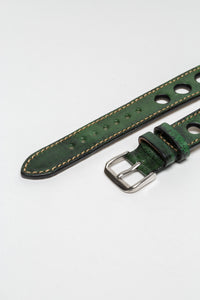 Racing Green Big Holes Rally Strap