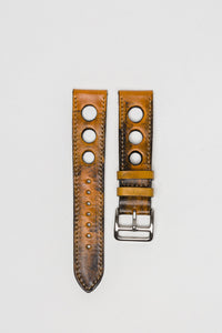 Giallo Yellow Big Holes Rally Strap