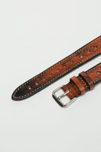 Aged Terracota Brown Rally Strap