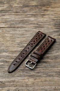 Aged Chocolate Brown Rally Strap
