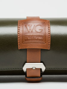 Premium Watch Roll in Royal Green Leather