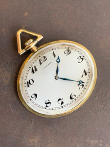 1914 Longines Art Deco style pocket watch