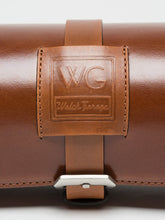 Premium Watch Roll in Caramel Brown Leather