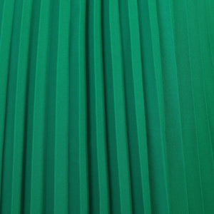 Pleated Crepe Maxi Skirt, Green