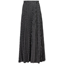 Load image into Gallery viewer, Jolie Moi Pleated Polka Dot Maxi Skirt, Black Polka