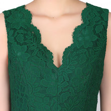 Load image into Gallery viewer, Jolie Moi Cap Sleeve Fit & Flare Lace Dress, Green