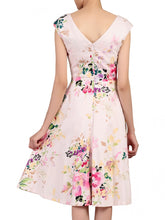 Load image into Gallery viewer, Jolie Moi Floral Sweetheart Neck Swing Dress, Pink