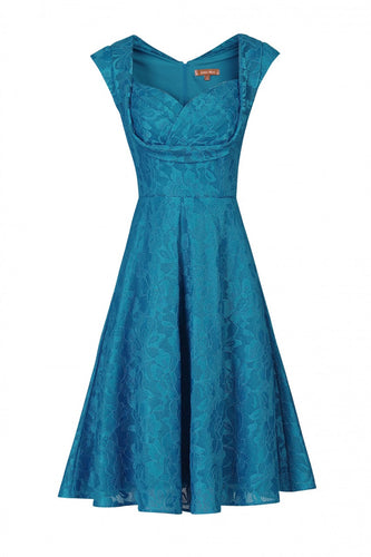 Jolie Moi Crossover Bust Lace Prom Dress, Dark TEAL