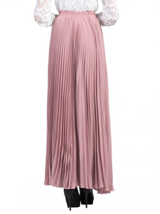 Jolie Moi Pleated Crepe Maxi Skirt, DUSTY PINK