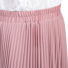 Load image into Gallery viewer, Jolie Moi Pleated Crepe Maxi Skirt, DUSTY PINK