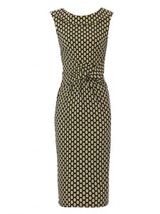 Jolie Moi Roll Collar Sleeveless Shift Dress, Yellow/Multi