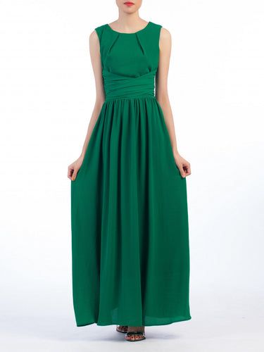 Jolie Moi Wrap Belted Maxi Dress, Green