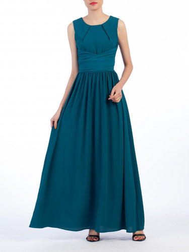 Jolie Moi Wrap Belted Maxi Dress, Teal