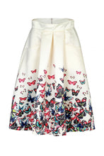 Load image into Gallery viewer, Jolie Moi Beige Butterfly Print Skirt , BEIGE