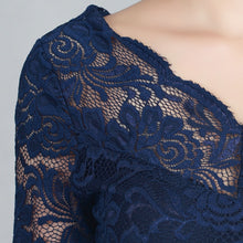 Load image into Gallery viewer, Jolie Moi Scalloped Lace Dress, Navy