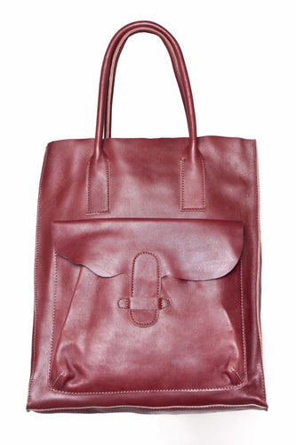 Jolie Moi Leather Tote Bag, Burgundy