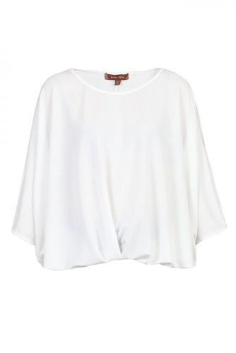 Jolie Moi Ruched Batwing Top, Ivory