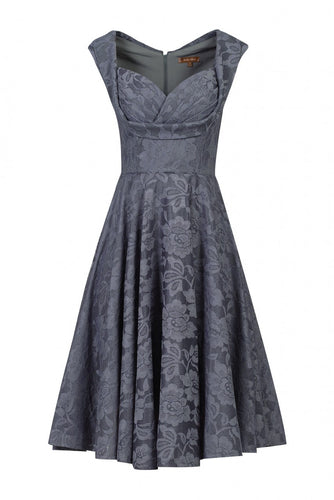 Jolie Moi Crossover Bust Ruched Prom Dress, DARK GREY