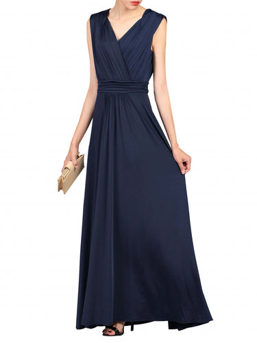 Jolie Moi Plunge Wrap Dress, Navy