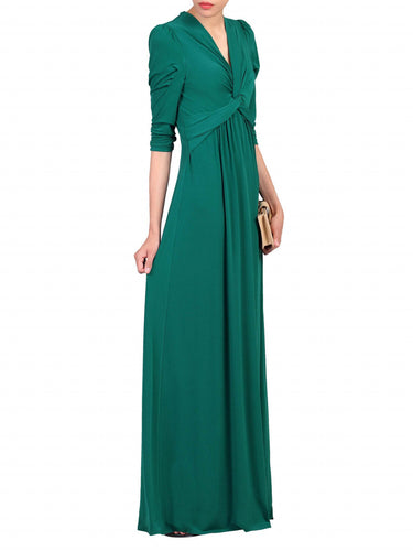 Jolie Moi Twist Knot Front Dress, Dark Green